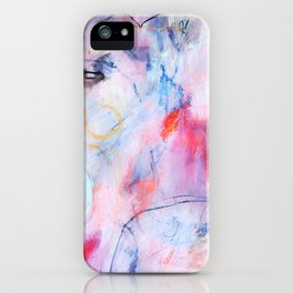 abstract joyful and wild meadow_004 iPhone Case
