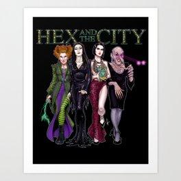 Hex and The City (dark) Art Print