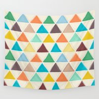portland Wall Tapestries featuring Portland triangles by Sharon Turner