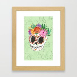 Fridita with flowers Framed Art Print