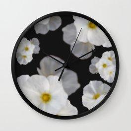 Dreaming white blossom flower Wall Clock