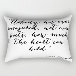 How much can the heart hold Rectangular Pillow