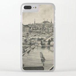 Vintage Pictorial Map of Richmond VA (1876) Clear iPhone Case