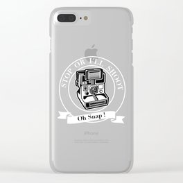 Saying Photographer Photographer Image Humor Gift Clear iPhone Case