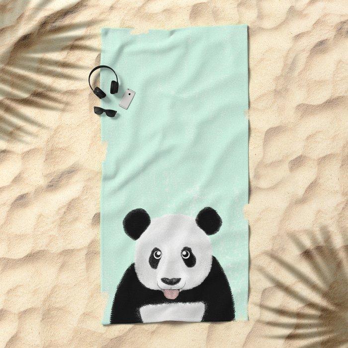 Cute Panda Beach Towel