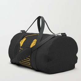 Gold Headphones Duffle Bag