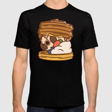 Puglie Waffles X-LARGE Mens Fitted Tee Black