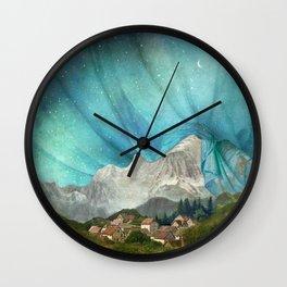 An den Bergen hing die Nacht Wall Clock
