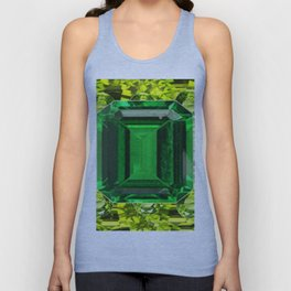GREEN EMERALD & PERIDOT GEMS VINETTE Unisex Tank Top