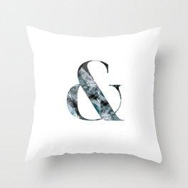 & Ampersand Throw Pillow