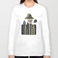 men Long Sleeve T-shirts featuring Dead Men Tell No Tales by Chase Kunz