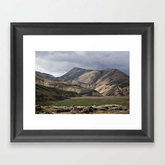 Mossy Hills, Iceland Framed Art Print