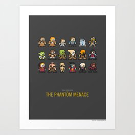 Mega Star Wars: Episode I - The Phantom Menace Art Print
