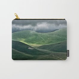 The hills of Castelluccio during a thunderstorm Carry-All Pouch