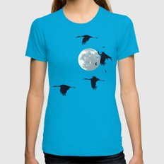 Opps SMALL Teal Womens Fitted Tee