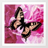 Golden Butterfly Art Print