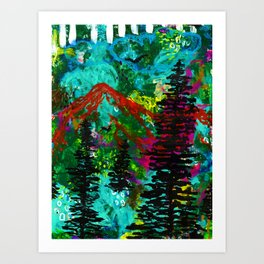 Go Wild - Mountain - Abstract painting Art Print