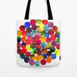 Colored Circles in watercolor Tote Bag