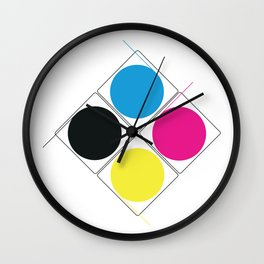 CMJN rounds Wall Clock