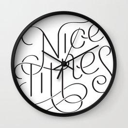 Nice tittles!!! Wall Clock