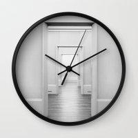 doors Wall Clocks featuring Doors by Sofia_Katsikadi