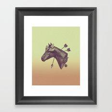 Blind Horse Framed Art Print