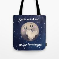 enerjax Tote Bags featuring Pluto - I love myself by enerjax