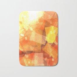 Orange rectangle coctail Bath Mat