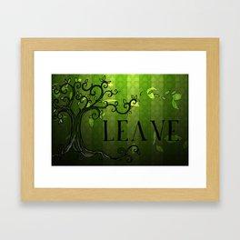 LEAVE - Summer Green Framed Art Print