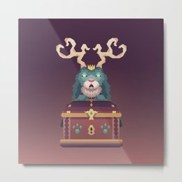The Jackalope King's Chest Metal Print