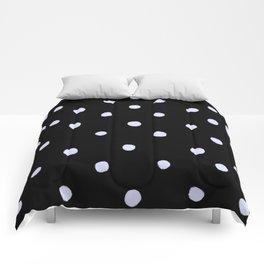 Weisse Punkte 001 Comforters