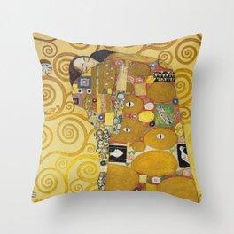 The Embrace - Gustav Klimt Throw Pillow