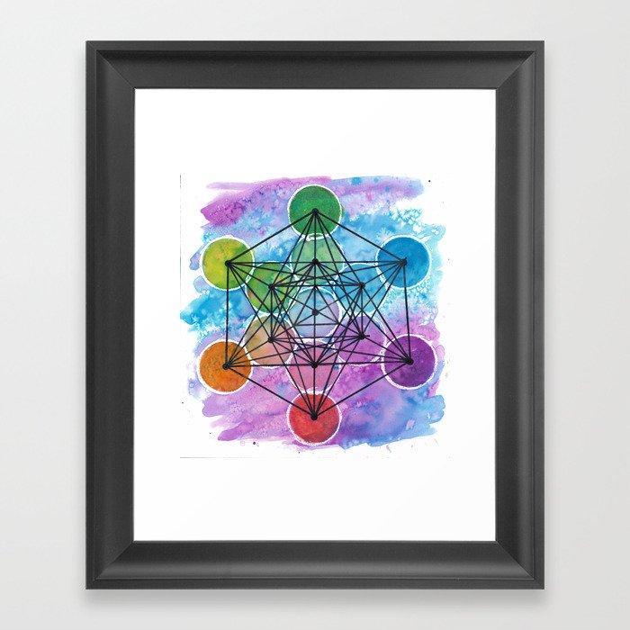 Metatron's Color Wheel Gerahmter Kunstdruck