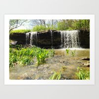 Keys Waterfall Art Print