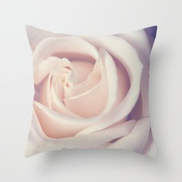 An Offering White Rose Throw Pillow