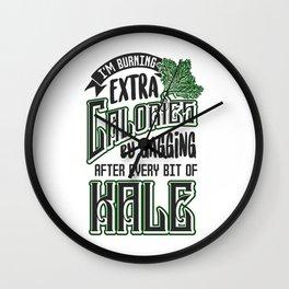 Gagging on Kale Art for Vegans Vegetarians on Diet Light Wall Clock