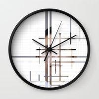 technology Wall Clocks featuring Technology by Robert J. Lopez