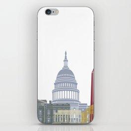 Washington DC skyline poster iPhone Skin