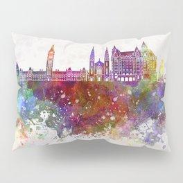 Ottawa V2 skyline in watercolor background Pillow Sham