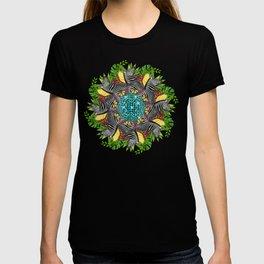 Disco zebra mandala T-shirt