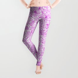 Bells Flower - BUTTERFLIES - CAMPANULA PURPLE Leggings
