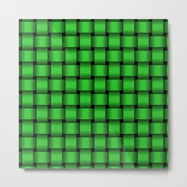 Lime Green Weave Metal Print