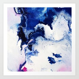 Riveting Abstract Watercolor Painting Art Print