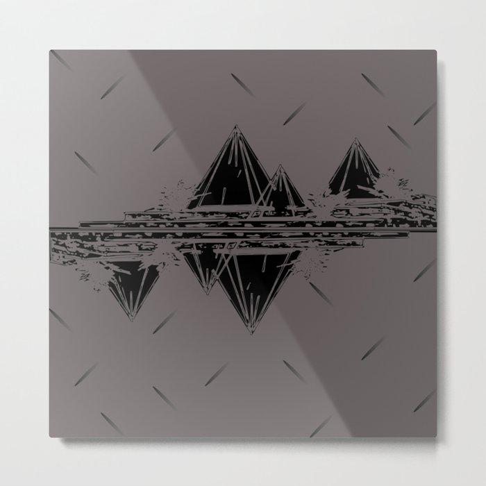 Maroon Mountains Metal Print