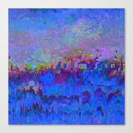 08-20-13 (Skyline Glitch) Canvas Print