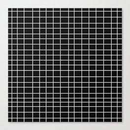Squares of Black Canvas Print