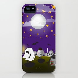 halloween hedgehogs party gang iPhone Case