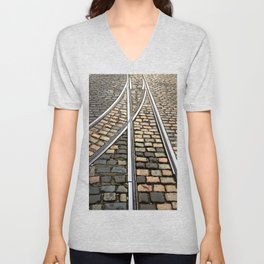 Rails and Cobbles Unisex V-Neck