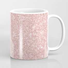 Trendy girly blush pink modern abstract glam glitter Coffee Mug
