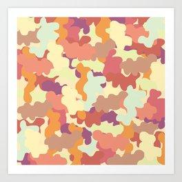 Camo in Rust, Fall Colors. Art Print